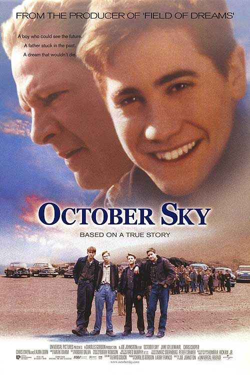 an analysis of october sky a film by universal pictures Rocket boys: a memoir was published by delacorte press in september 1998 and the movie based on it, october sky premiered nationwide on his birthday february 19, 1999 the title of the paperback released at the same time was changed to the movie title, which is an anagram of rocket boys (take the letters of rocket boys and move them around to .