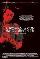 woman gun noodle shop