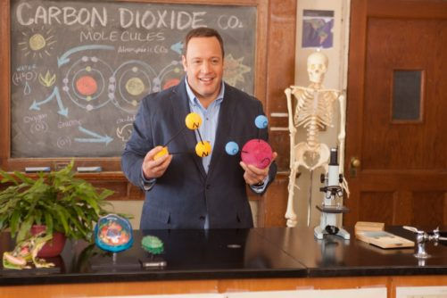 Scott Voss (Kevin James) teaching his biology class in Columbia Pictures' HERE COMES THE BOOM.